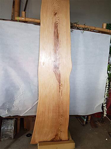 Baron Live-Edge Esszimmertresse, massives Eichenholz, Arbeitsplatte aus Holz, rote Eiche