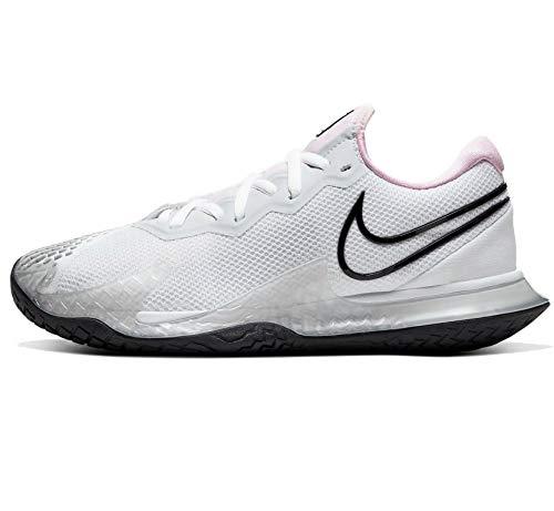 Nike Air Zoom Vapor Cage 4, Scarpa da Tennis Donna, Bianco/Espuma Rosa/Platino Puro/Nero, 42.5 EU