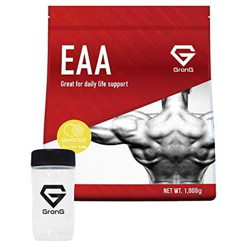 グロング EAA シェイカーセット アミノ酸 グレープフルーツ風味 1kg (100食分) 必須アミノ酸 国産