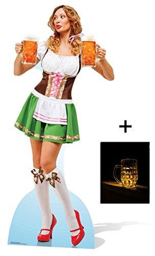 Oktoberfest Bier Babe Lebensgrosse Pappaufsteller - mit 25cm x 20cm foto