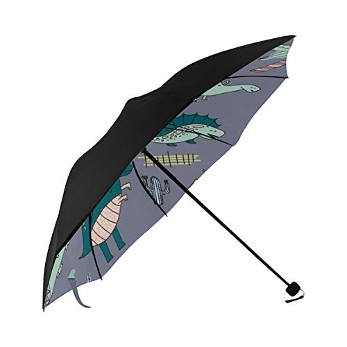 Beach Umbrella Cute Cartoon Baby Animation Dinosaur Underside Printing Cars Umbrella Sun Umbrella For Women Best Umbrella With 95% Uv Protection For Women Men Lady Girl