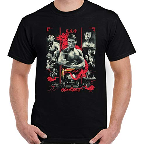 Bloodsport T-Shirt, Men Martial Arts Jean Claude Van Damme Film Frank Top