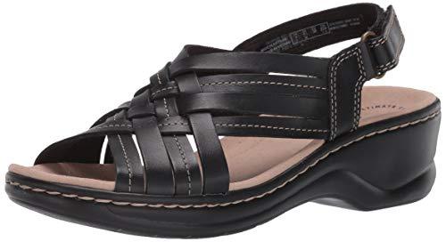 Clarks womens Lexi Carmen Sandal, Black Leather, 8.5 US