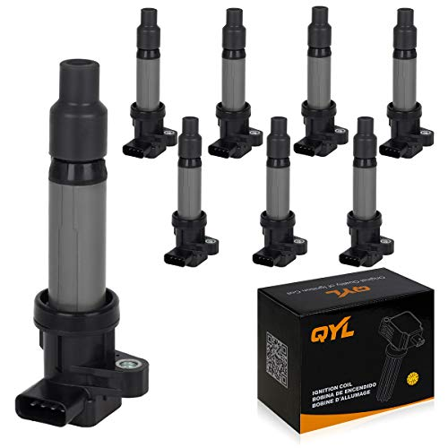 QYL 8Pcs Ignition Coil Pack Replacement for Buick Lucerne Cadillac SRX STS XLR DeVille Pontiac Bonneville V8 4.6L UF564 12594176 12670154 099700-0940 C564