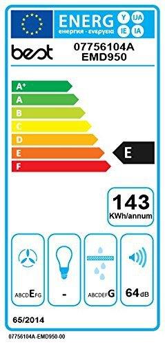 Best Dunstabzugshaube Lift Glas Weiß 90 EM - 3