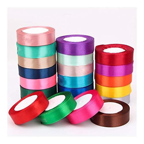 RHLDZSWB Cinta de regalo al por mayor, papel de regalo para decoración de Navidad, hecho a mano, rollo de cinta (color: rojo vino, tamaño: 20 mm)