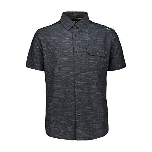 CMP Herren Stretch Checked Shirt Hemd, Jungle, 52
