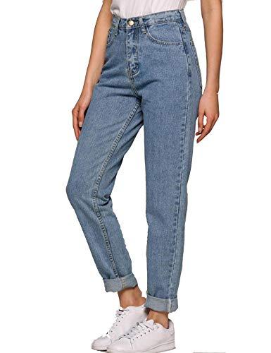 PHOENSTA Hose - Damen Jeans Boyfriend High Waist Jeanshose Locker Lang Boyfriend Jeans Blau Hose Jeans Straight Lässig Weich XS-3XL