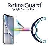 "RetinaGuard iPhone XR 6.1""(透明) - SGS&Intertekテスト用のアンチブルーライト強化ガラススクリーンプロテクター - 過度の有害な青色光をブロックし、目の疲れと目のひずみを軽減"