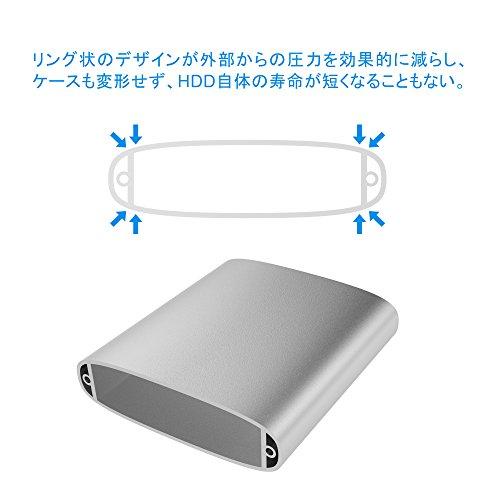 シリコンパワーポータブルHDD2TB2.5インチUSB3.0対応Mac対応IP68防塵防水耐衝撃3年保証アルミケース採用ArmorA85MSP020TBPHD85MS3S