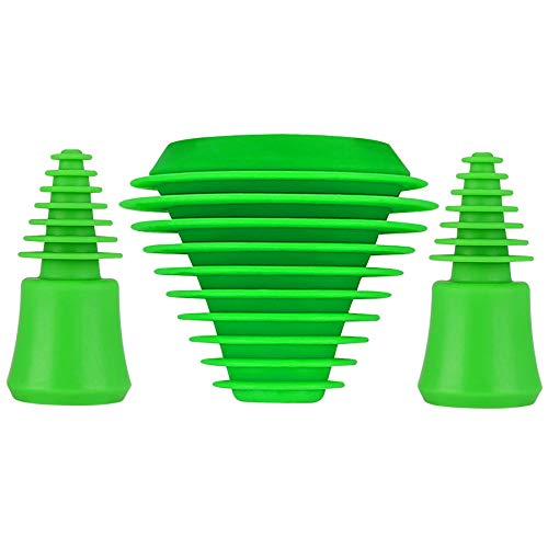 Silicone stoppers Tech Universal Cleaning Plugs+Caps for Cleaning, Storage,...
