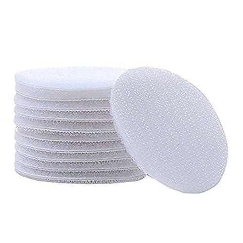 WEIYUE Lote de 10 pares de cinta adhesiva de nailon con cierre de velcro para manual (color: círculo blanco 10)