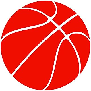 Basketball [Pick Any Color] Vinyl Transfer Sticker Decal for Laptop/Car/Truck/Window/Bumper (10