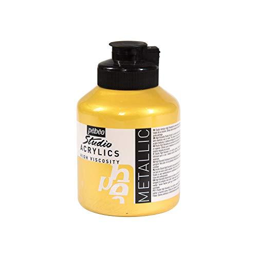 Acrylique Fine Studio Acrylics - Peinture Acrylique – Peinture Métallique Acrylique – Or IRIDESCENT 500 ml