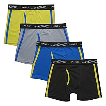 Hanes Boys  X-Temp Breathable Mesh Boxer Brief 4-Pack Assorted Large