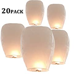 【Ideal for Any Occassion】Wish Paper Lanterns are suitable for any occasion. Ideal for weddings, New Years Eve, graduations, anniversaries and more! Make a wish. 【Safe & Biodegradable】Each of our lanterns is biodegradable and eco-friendy, flame resist...