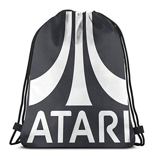asdew987 Bolsas de cordón Atari Unisex Mochila con cordón Bolsa de deporte Bolsa de cuerda Bolsa grande Bolsa de asas Bolsa de Gimnasio Mochila a granel
