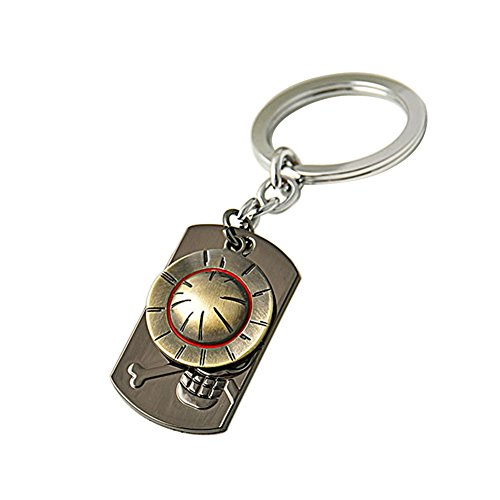 Loheag Clinor One Piece Schlüsselanhänger One Piece Ruffy Strohhut Key Chain