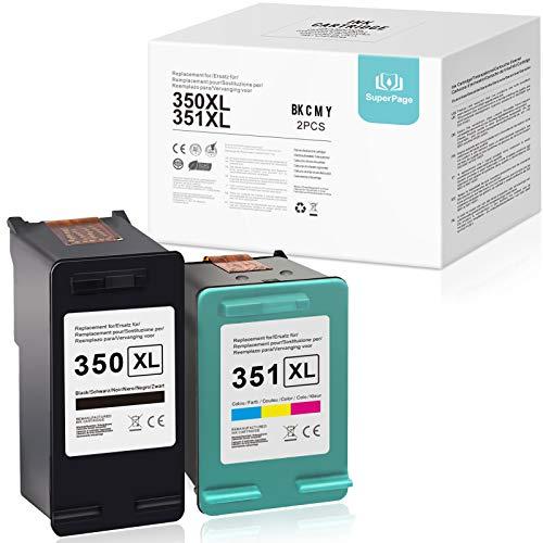 Superpage - 2 cartuchos de tinta remanufacturados para HP Photosmart C4385, C4410, C4400, C4424, C4435, C4440, C4450, C4470, C5580, D5345, D5355 y D5360 Officejet Jet. 5785, color negro.