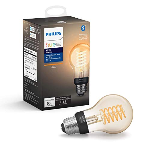 Philips Hue White Filament A19 Smart Vintage LED bulb