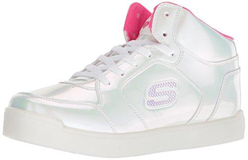 Skechers Mädchen Energy Lights: E-pro Pearl Princess Hohe Sneaker,Pink (White/Hot Pink Whp), 33 EU