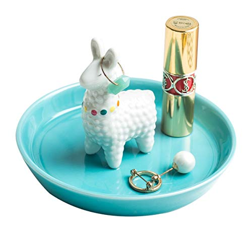 WANYA Ceramic Ring Jewelry Holder Decor Dish Organizer, Alpaca
