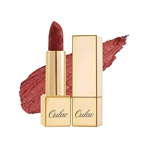 OULAC Metallico Brillare Rossetto, Glitter 3D Lunga Durata, Altamente pigmentato e ad alto impatto, Impermeabile e resistente al sudore Trucco colori, Shine lipstick, 4,3 g, Cherry Bomb (12)