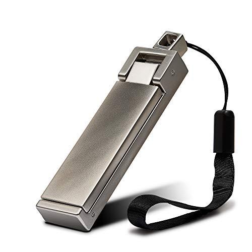 achilles Bag-Buddy Metall Taschen-Halter, Handy-Halter, Rucksack-Aufhänger, Handtaschen-Haken, für den Tisch, Zusammenklappbar, 8,5x2x1 cm, Silber