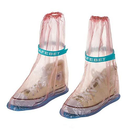 ducomi® Regen–copristivale Unisex Wasserdicht Regenschutz mit rutschfester Sohle L Pink