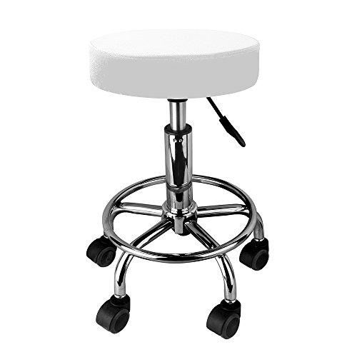 Taburete giratorio con ruedas para peluquería, cosmética, dentista, silla de trabajo profesional