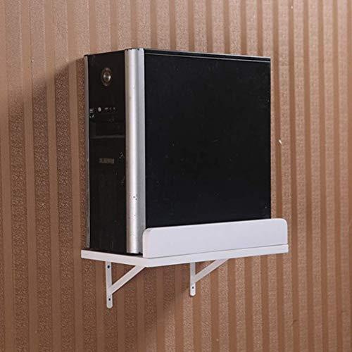 Mesa plegable Tabla Colgando mesa de pared montado en la pared del escritorio del ordenador, Escritorio esquinero, ahorrar espacio, blanco (soporte de acogida Color, Rodando), 80 * 40cm (Color: Escuad