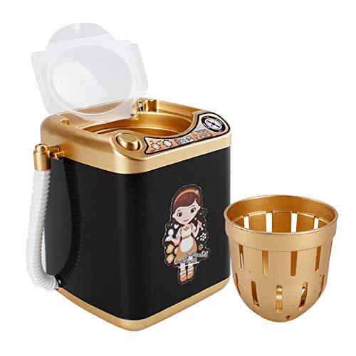 SLING Multifunction Gold Blender Washing Machine Kids Washing Machine Toy Beauty Sponge Brushes Makeup Brush Cleaning Electric Washer-Black