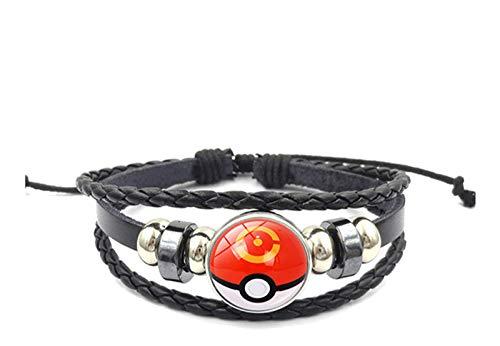 FENGHE Pokemon 2 Stück / Los Anime Pokemon Poke Ball Armband Cosplay Pokemon Go Time Gem Cabochon Metall Armband