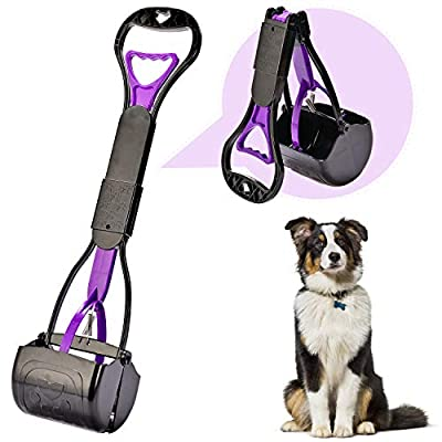 Yeuca Pooper Scooper for Large & Medium, Small Dogs, Long Handle Foldable, Sturdy and Durable Great for Gravel, Grass, Concrete & Yard Spade, Easy to use Clean & Portable High Strength Material