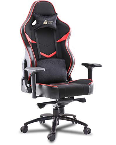 Green Soul® Monster Ultimate Series (T) Multi-Functional Ergonomic Gaming Chair (GS-734U) (Black & Red) (Size - Large)