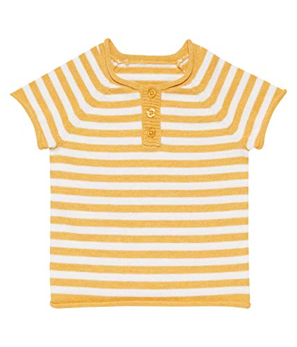 Sense Organic Sense Organcis Baby Knitted top kurz Yellow/Ivory Stripes