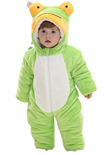 OHmais Bébé Fille garçon Unisexe Grenouillère Costume Deguisement Combinaison Pyjamas Hiver Grenouille