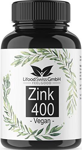 Zink 25 mg - 400 Tabletten - 400 Tage - Hochdosiertes Zink - Vegan