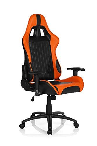 hjh OFFICE Gaming Stuhl/Bürostuhl Sportsitz Kunstleder Spielberg II schwarz/orange