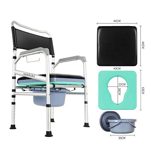 OLD MAN'S CHAIR ZLMI Alter WC-bril, multifunctioneel, inklapbaar, mobiele toilet, kruk, douchestoel, antislip, rubberen mat, antiek toilet, dames