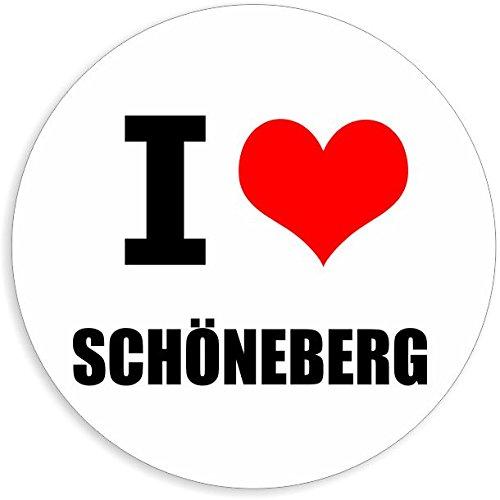 I love Schöneberg in 2 Größen erhältlich Aufkleber mehrfarbig Sticker Decal