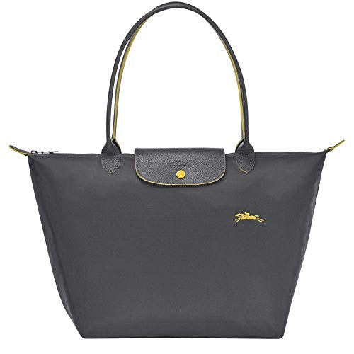 Longchamp Le Pliage Club - Borsa a tracolla grande, in nylon, colore: canna di fucile