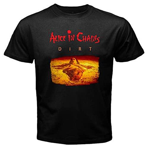 Omaio Alice in Chains Dirt Logo Men's Black T-Shirt M Black