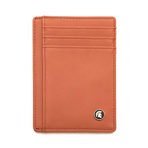 Portafoglio sottile con blocco RFID, Porta carte di credito minimalista, può contenere fino a 7 carte e banconote.