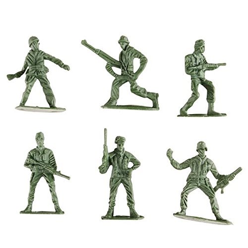 Kicko Army Toy Soldiers Action Figures - Assorted - 144 Pack Deluxe - for Children, Boys, Girls, Parties, Party Favors