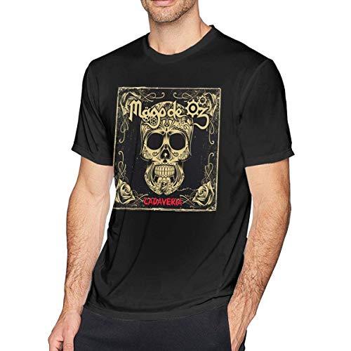 Mago De Oz Cadaveria Camiseta Hombre Algodón Cuello Redondo Confort Manga Corta Camisetas gráficas Negro