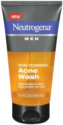 Neutrogena Men Skin Clearing Daily Acne Face Wash with Salicylic Acid Acne Treatment, Non-Comedogenic Facial Cleanser to Treat & Prevent Breakouts, 5.1 fl. oz(Pack of 3)