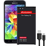 Acevan For【galaxy s5 バッテリー 2800mAh】 800回サイクル ギャラクシーs5 バッテリー 交換 日本国内PES認証取得 18ヶ月保証付き ( SC-04F, SCL-23, G900, G900D, G900J, G900I, G900F, G900H)s5 バッテリー