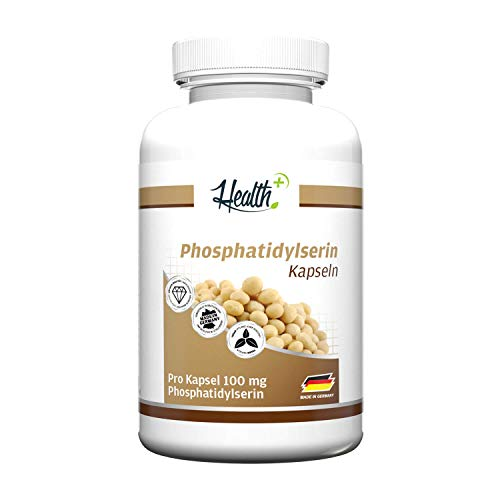 HEALTH+ Phosphatidylserin - 120 Kapseln, 100mg reines Phosphatidylserin-Pulver pro Kapsel
