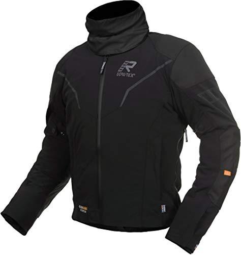Rukka Elas - Chaqueta textil para moto, color negro y gris oscuro, talla 58